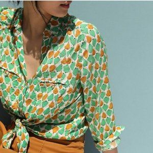 Anthropologie conversations pear blouse 10